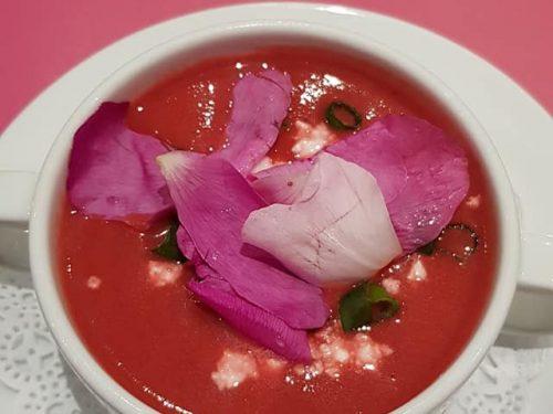 soep met bloemen